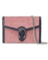 Gucci Dionysus Mini Tasche mit Kettenriemen - Pink