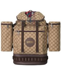 3f6819f26ad4 Lyst - Gucci Large GG Velvet Backpack in Brown for Men