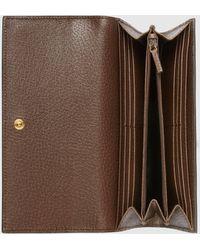 Gucci Ophidia Continental Brieftasche mit GG - Braun