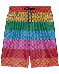 Gucci GG Multicolor Shorts aus Jersey - Rot