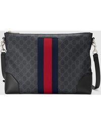 Gucci Umhängetasche aus GG Supreme - Schwarz