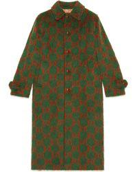 Gucci - Manteau en laine GG - Lyst