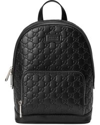 Gucci Signature leather backpack - Nero