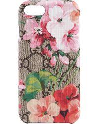 Gucci Étui pour iPhone 8 GG Blooms - Neutre