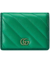 Gucci Cartera GG Marmont - Verde