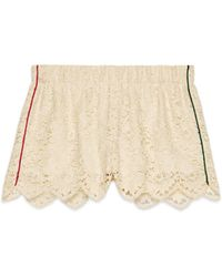 Gucci - Flower Lace Shorts - Lyst