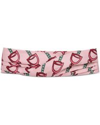 31cab73c955 Gucci - Headband With Stirrups Print - Lyst