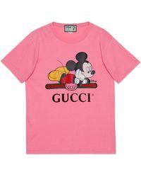 Gucci T-shirt oversize Disney x - Rose