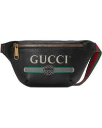 Gucci Print Small Belt Bag - Black