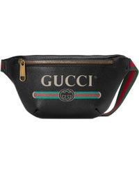 Gucci Print Small Belt Bag - Black