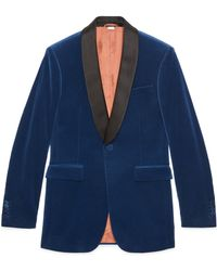 Gucci Velvet Jacket - Blue
