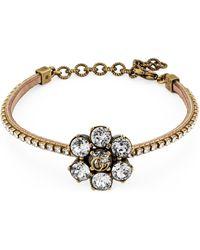 Gucci Crystal Double G Bracelet - Metallic