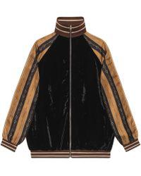 Gucci - Bi-material Jacket - Lyst