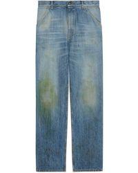 Gucci Hose aus Bio Denim mit ökologischer Waschung - Blau