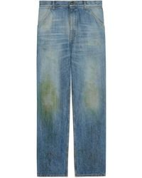 Gucci Eco Washed Organic Denim Pant - Blue
