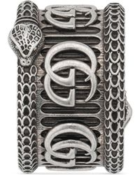 Gucci Silver Ring With Double G - Metallic