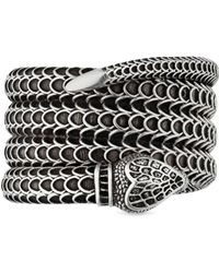 Gucci Garden Silver Snake Wrap Ring - Metallic