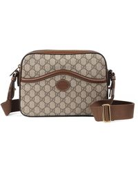 Gucci - Messenger Bag With Interlocking G - Lyst