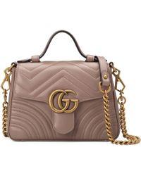 Gucci Mini borsa a mano GG Marmont - Rosa
