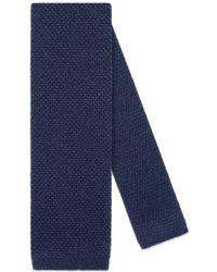 Gucci - Bee Underknot Cashmere Silk Tie - Lyst