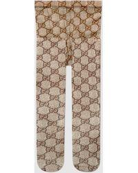 Gucci Strumpfhose mit GG Muster - Natur