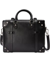 Gucci Mini Koffer aus Leder - Schwarz