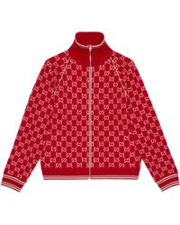 Gucci GG Wool Bomber Jacket - Red
