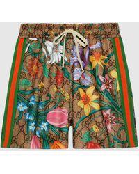 Gucci GG Shorts mit Flora Print - Natur