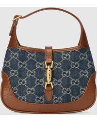 Gucci Jackie 1961 Hobo Mini Tasche - Blau