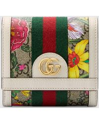 Gucci - 〔オフィディア〕GGフローラ カードケース ウォレット - Lyst