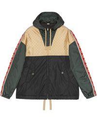 Gucci GG Jacquard Nylon Jacket - Black