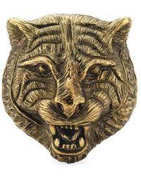 Gucci - Feline Head Ring In Metal - Lyst
