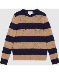 Gucci - グッチGG ウール ニットストライプ セーター - Lyst