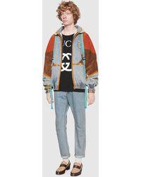 Gucci Übergroßes T-Shirt mit GG - Blau