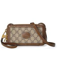 Gucci Mini Bag With Interlocking G - Natural