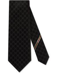 Gucci Cravate au motif GG - Noir
