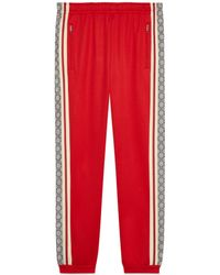 Gucci Oversize Technical Jersey jogging Pant - Red