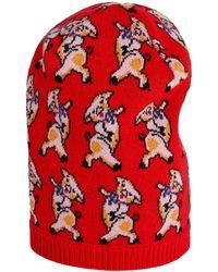 Gucci - Cappello in lana con motivo maialino - Lyst