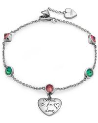 Gucci Blind For Love Bracelet In Silver