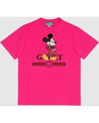 Gucci グッチdisney (ディズニー) X オーバーサイズ Tシャツ - ピンク