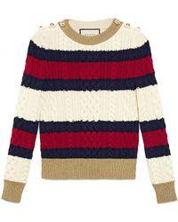 fcb0001c3 Gucci - Top de punto de lana a rayas - Lyst