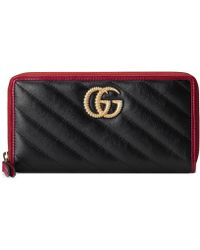 Gucci GG Marmont Wallet - Black