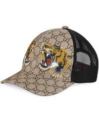 Gucci Casquette Suprême GG à imprimé tigre - Neutre