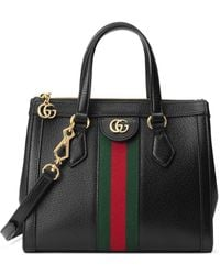 Gucci Ophidia Small Leather Tote Bag - Black