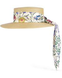 Lyst - Sombrero de pescador con motivo del logo Gucci de color Neutro 0c70e9f551f