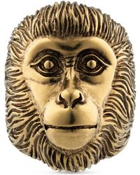 Gucci - Monkey Head Ring - Lyst
