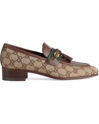 Gucci GG Loafer mit Quaste - Natur