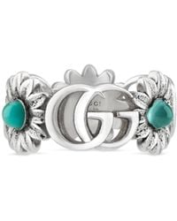 Gucci Double G Flower Ring - Multicolour