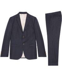 Gucci - Monaco Anzug aus Wolle mit Punktemuster - Lyst