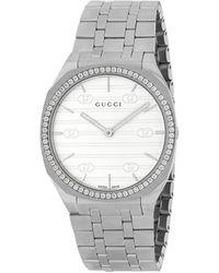 Gucci 25h Watch, 34mm - Metallic